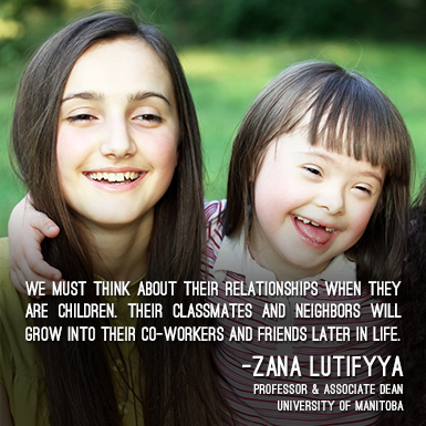 We must think about their relationships when they are children. Their classmates and neighbors will grow into their co-workers and friends later in life. -Zana Lutifyya